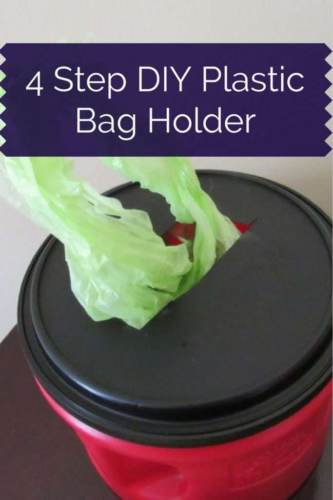 step in plastic 4 step diy coffee can plastic bag holder