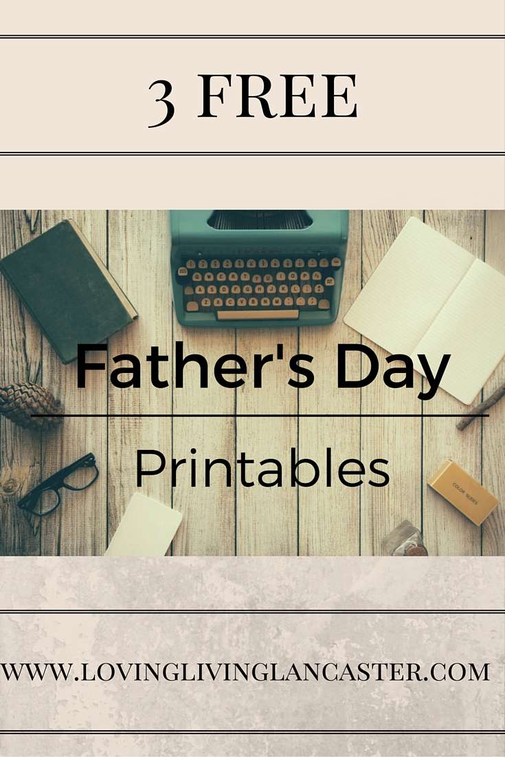 3 Free Father's Day Printables