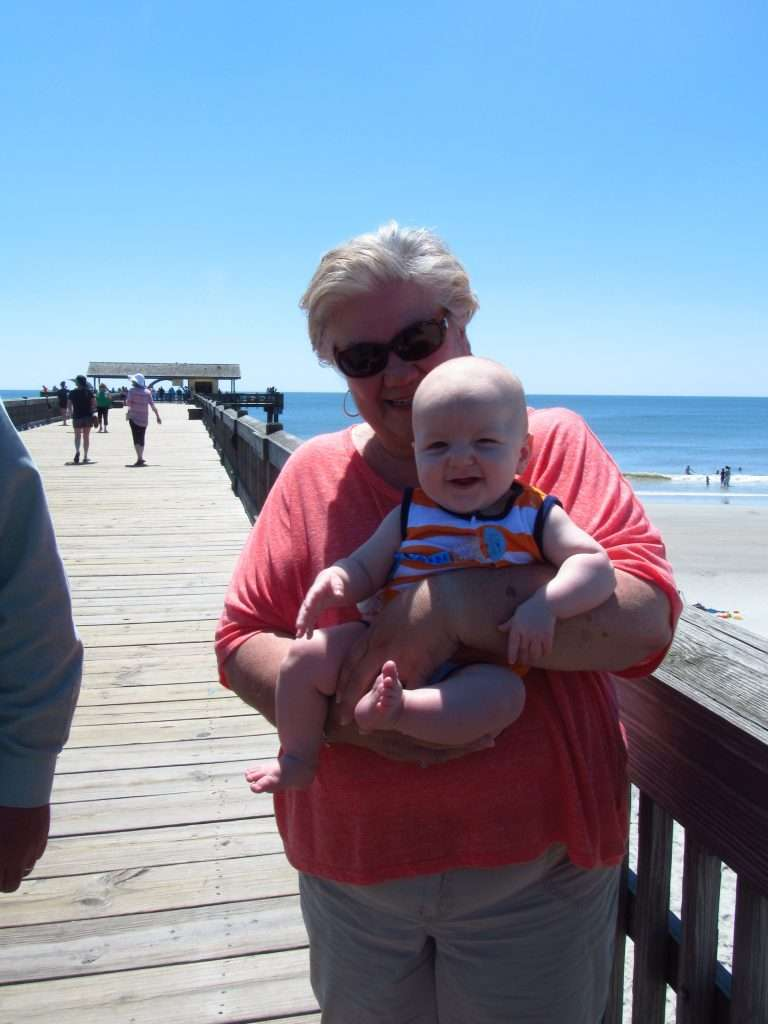 I love this picture of little man and my mom