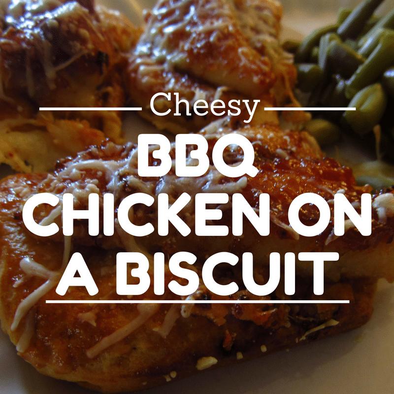 Cheesy BBQ Chicken On a Biscuit