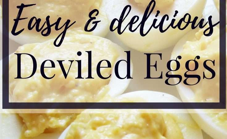 Easy Deviled Eggs Recipe {Grammy's Corner}