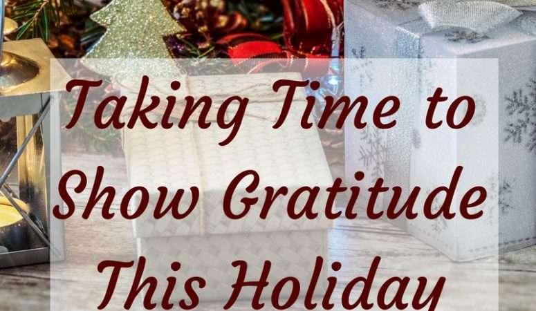Taking Time to Show Gratitude This Holiday Season