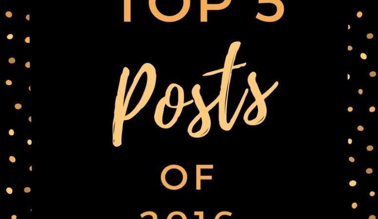 Top 5 Posts of 2016