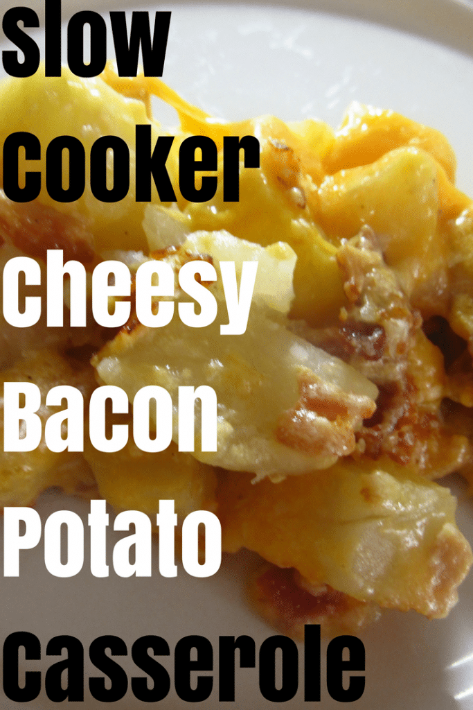 Cheesy Bacon Potato Casserole in the Slow Cooker, a delicious meal for the entire family