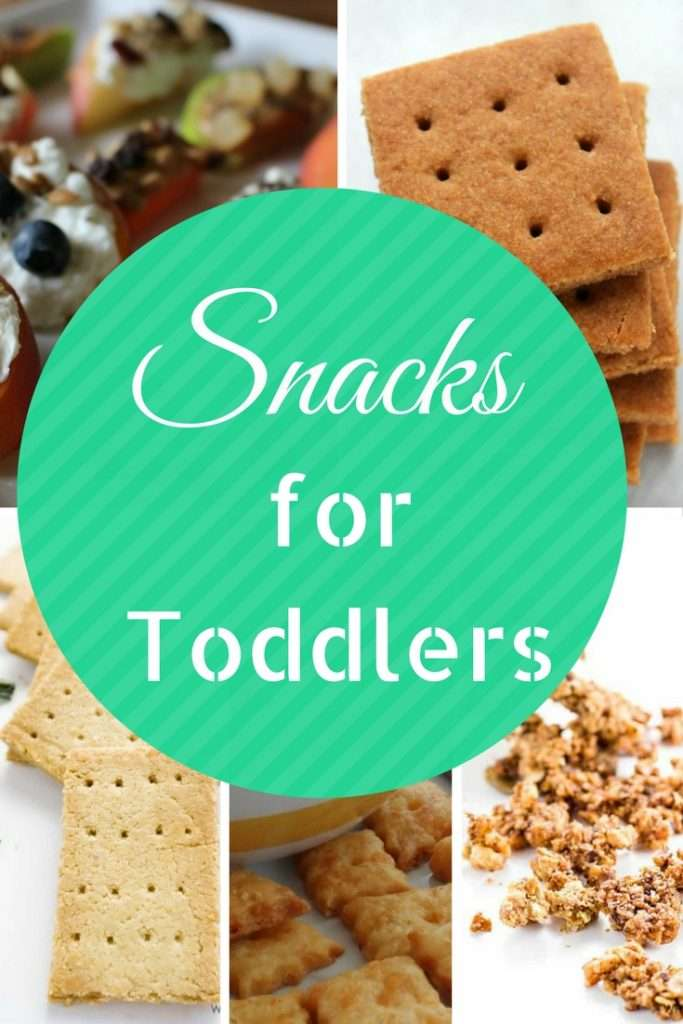 Snacks for Toddlers, including: granola, graham crackers, cheese crackers, yogurt and more!