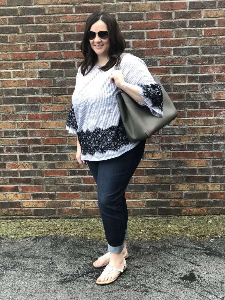 Lifestyle Blogger Allison Lancaster in Lane Bryant Ultimate Stretch Jeans and Top