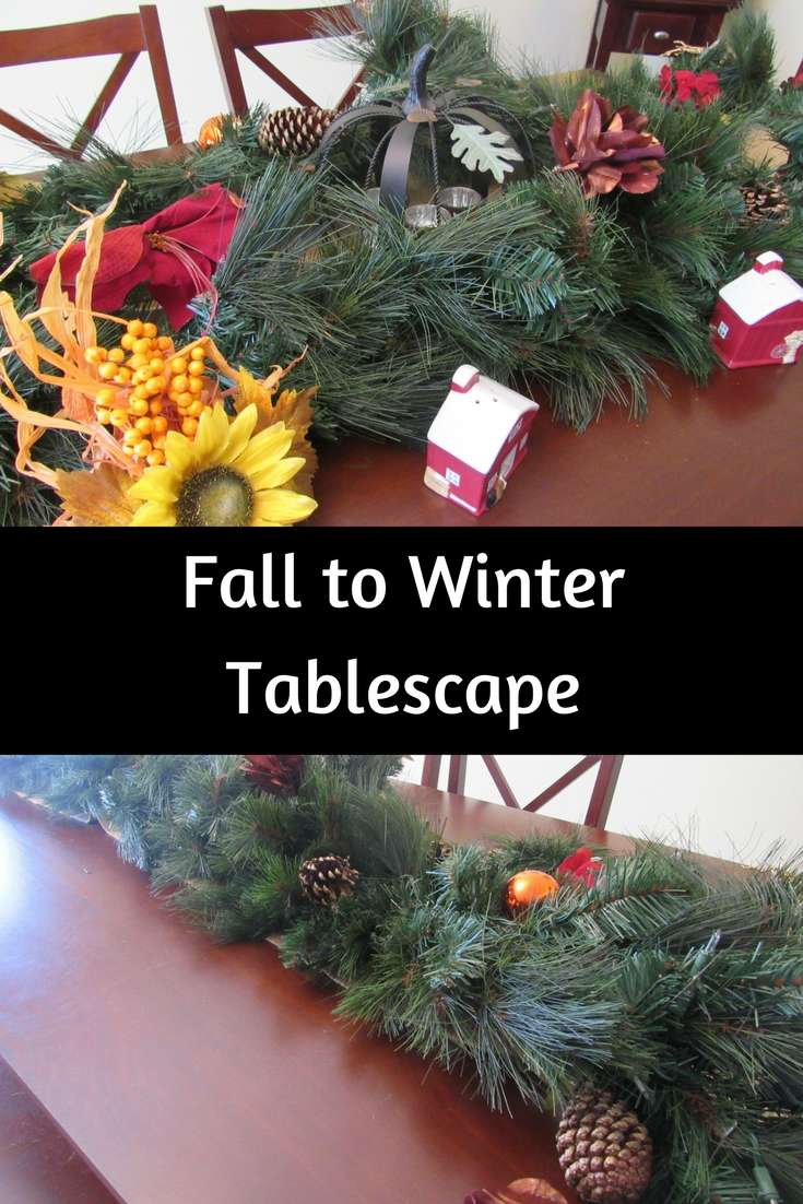 One of my favorite places to decorate is our dining room table. I'm excited to share with you my easy to transition fall to winter tablescape today! #atoasttoautumn #tctablescapes #treeclassics #ad