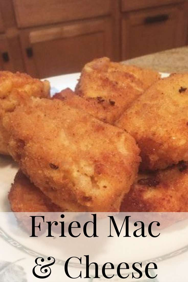 This fried mac and cheese would also be a perfect appetizer for the holidays or any other occasion!