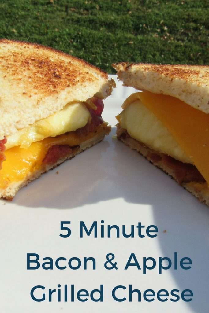 One of my favorite grilled cheese recipes is this delicious apple and bacon grilled cheese. It's an easy and quick dinner that the entire family loves.