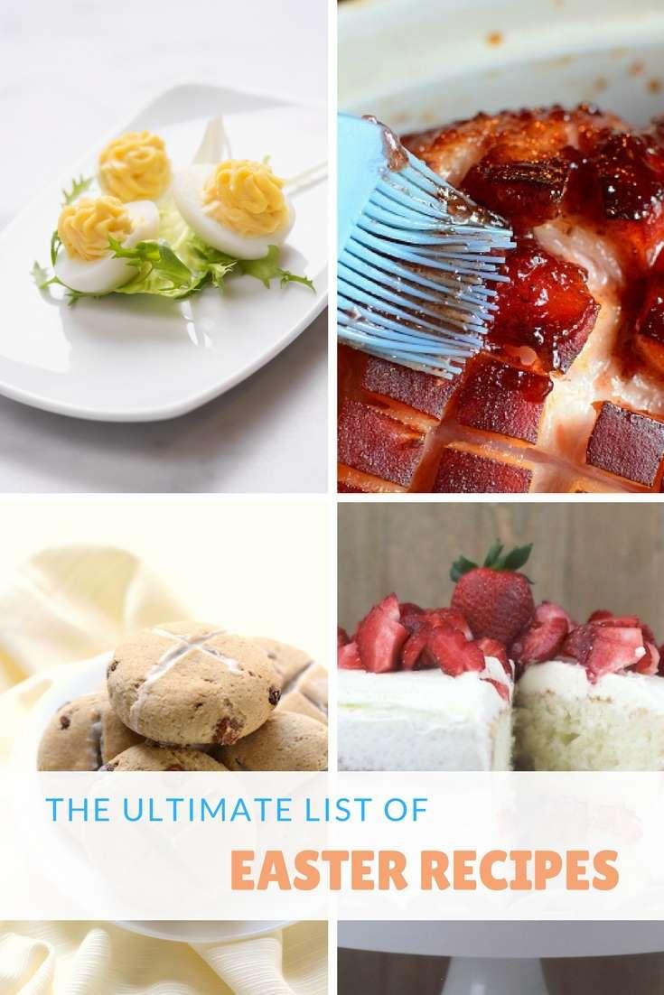 The Ultimate List Of Easter Dinner Recipes #easter #ham #recipes #dessert