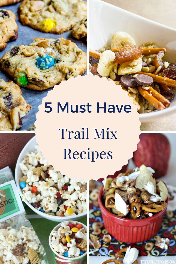 5 Must Have Trail Mix Recipes | Snacks | Trail Mix | Kid's Snacks