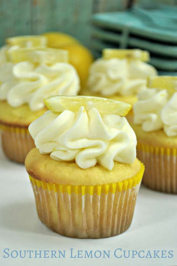 We don't make dessert at our house often, usually it's for a special occasion, but these southern lemon cupcakes are the exception - they are easy to make and light enough that you don't feel like you are miserable after indulging in a little dessert after dinner. | Dessert | Southern Lemon | Lemon Cupcakes | Summer Dessert