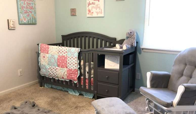 Pink and Teal Baby Girl's Nursery: All of the Details