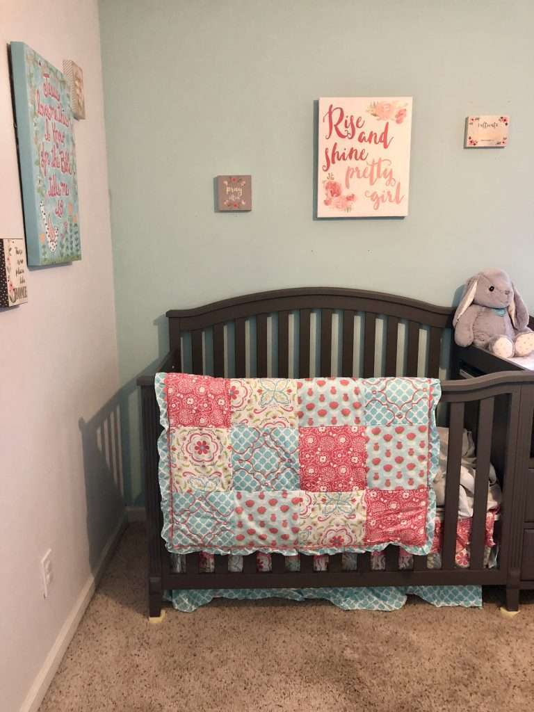 Pink and Teal Baby Girl's Nursery_ All of the Details
