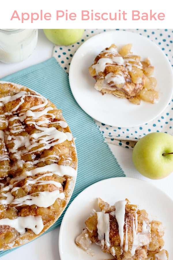 Apple Pie Biscuit Bake | Apple Pie Recipe | Dessert Recipe | Breakfast Bake | Make Ahead Breakfast