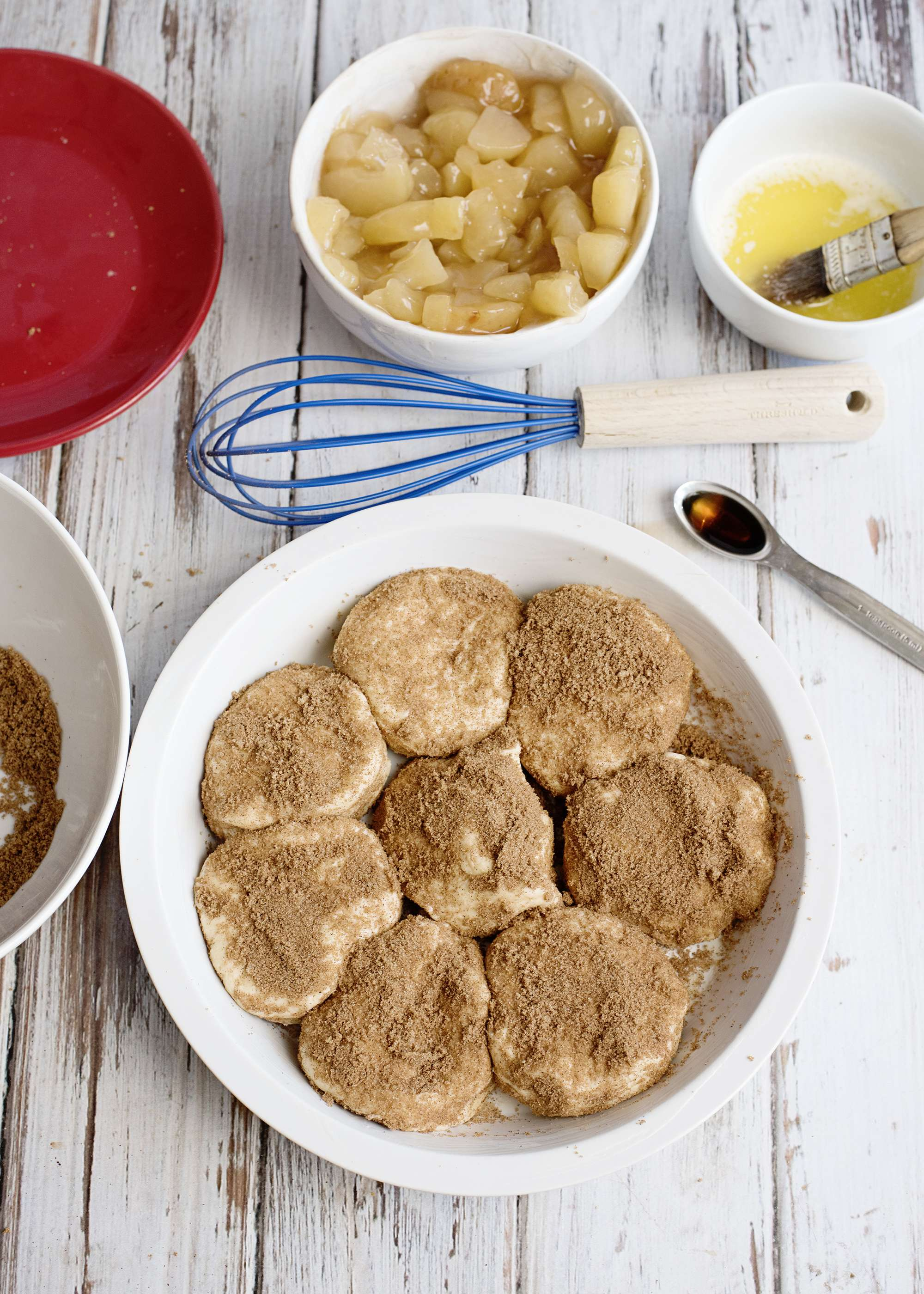 Apple Pie Biscuits in the pan