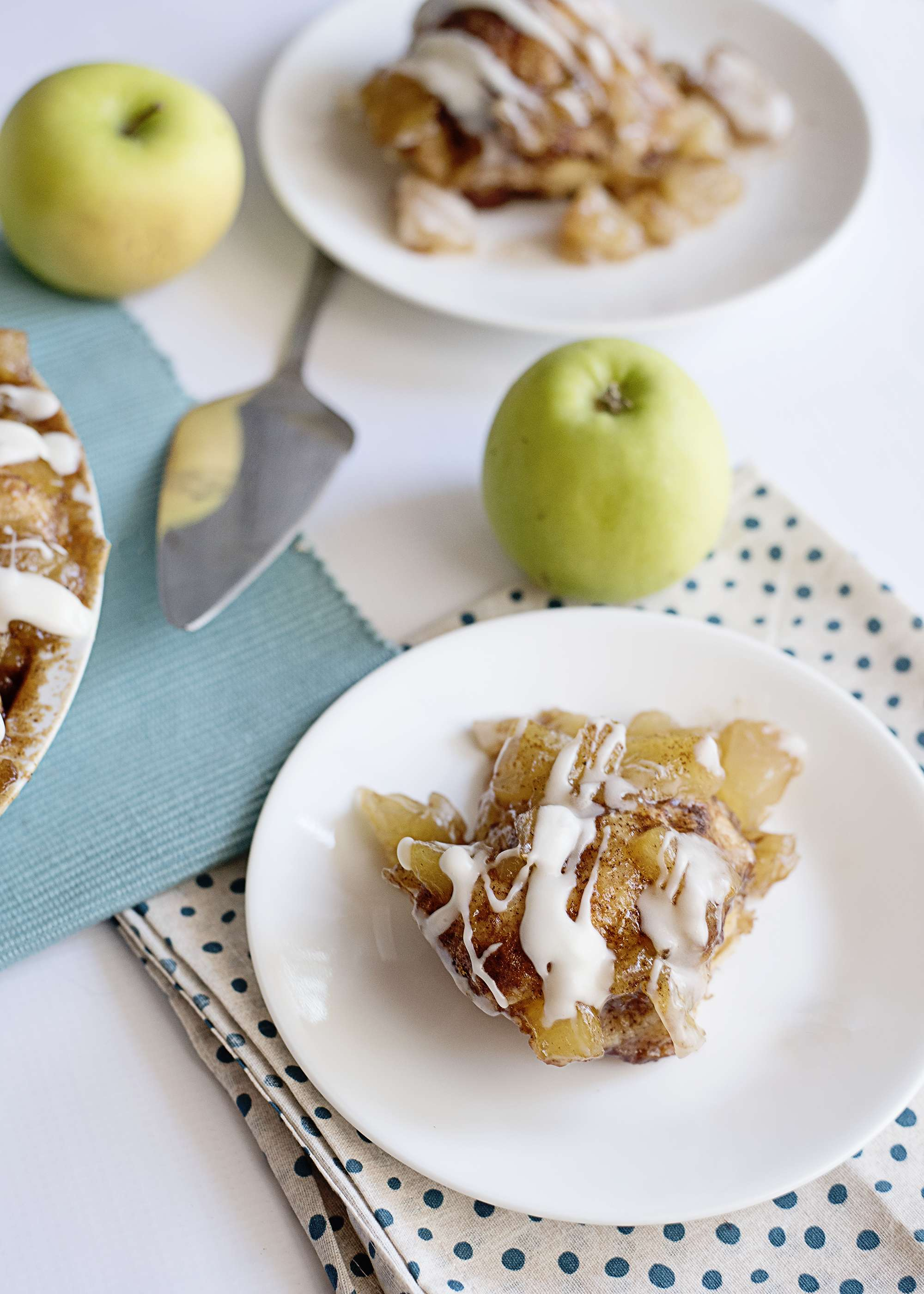Apple Pie Biscuit Bake served on plates