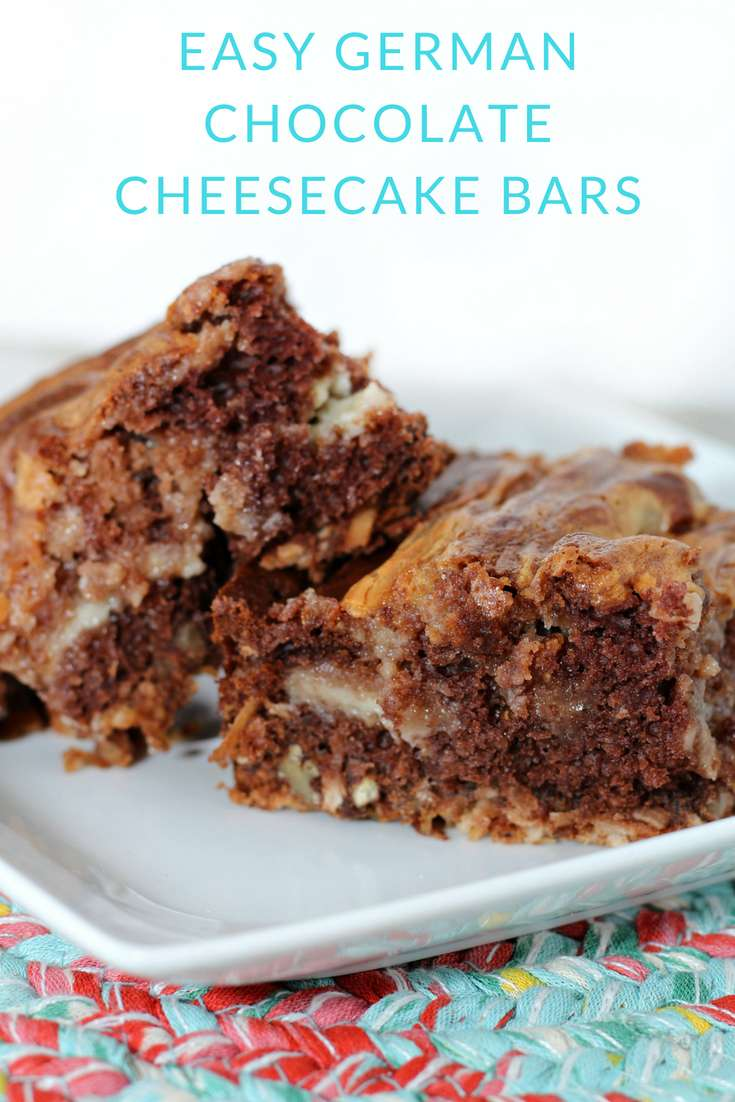 These easy german chocolate cheesecake bars are one of my new favorite recipes. I love that they are well, easy, but they taste like you've spent all day making them.