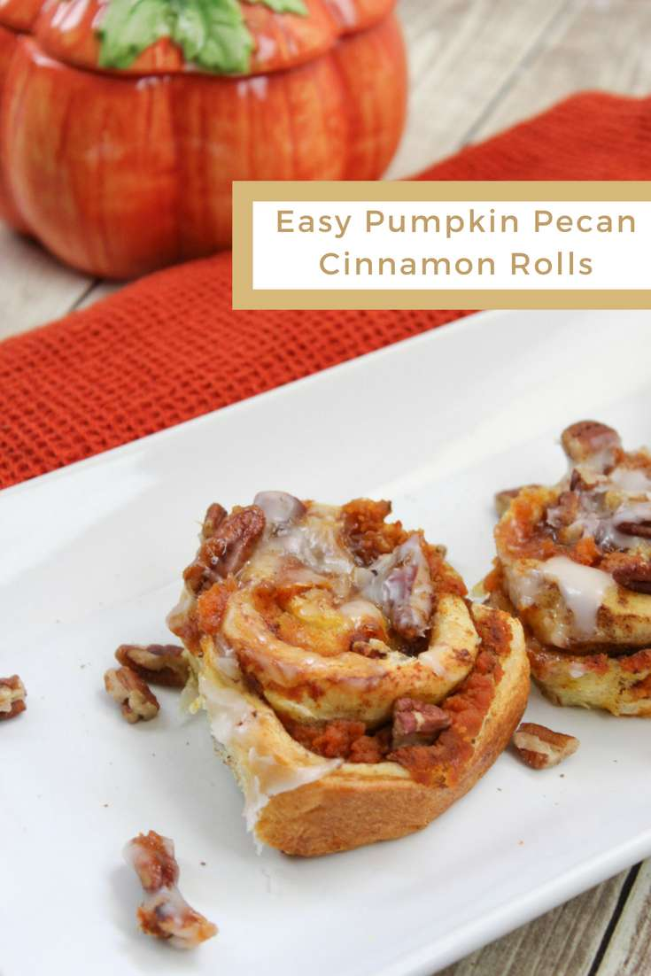 This year, I get to indulge in more pumpkin spice lattes and these easy pumpkin pecan cinnamon rolls are also on my menu for fall!