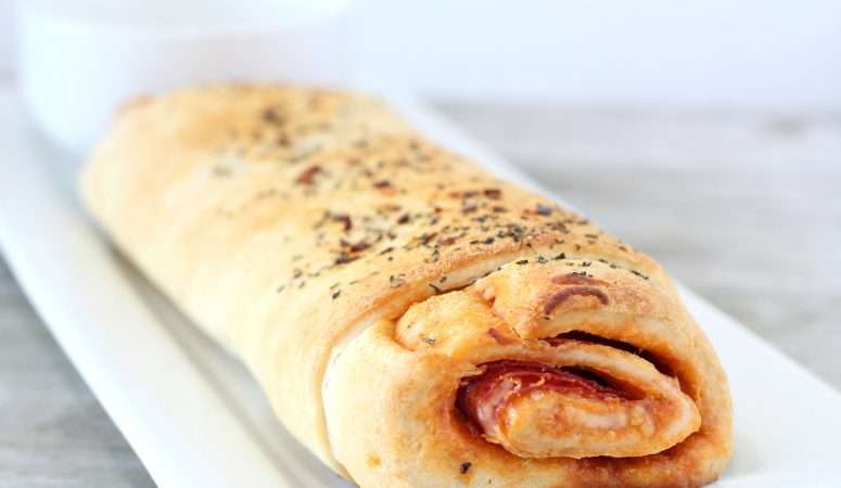 Spicy Stuffed Pizza Bread