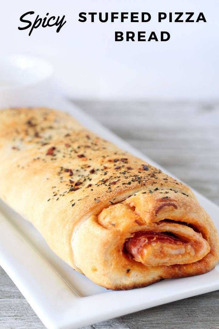 Spicy Stuffed Pizza Bread   Dinner   Easy Dinner   Pizza Roll #pizza