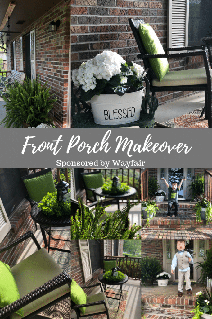 front porch makeover montage