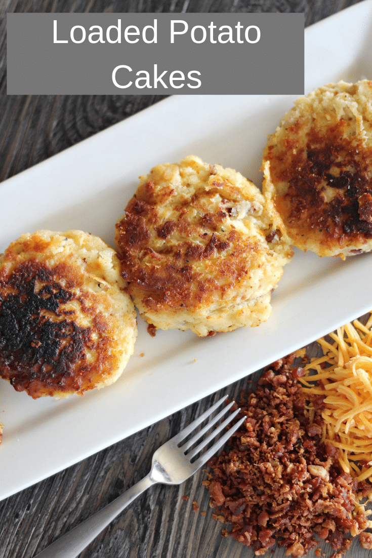 loaded potato cakes on plate