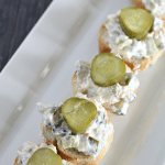 dill pickle dip on bread