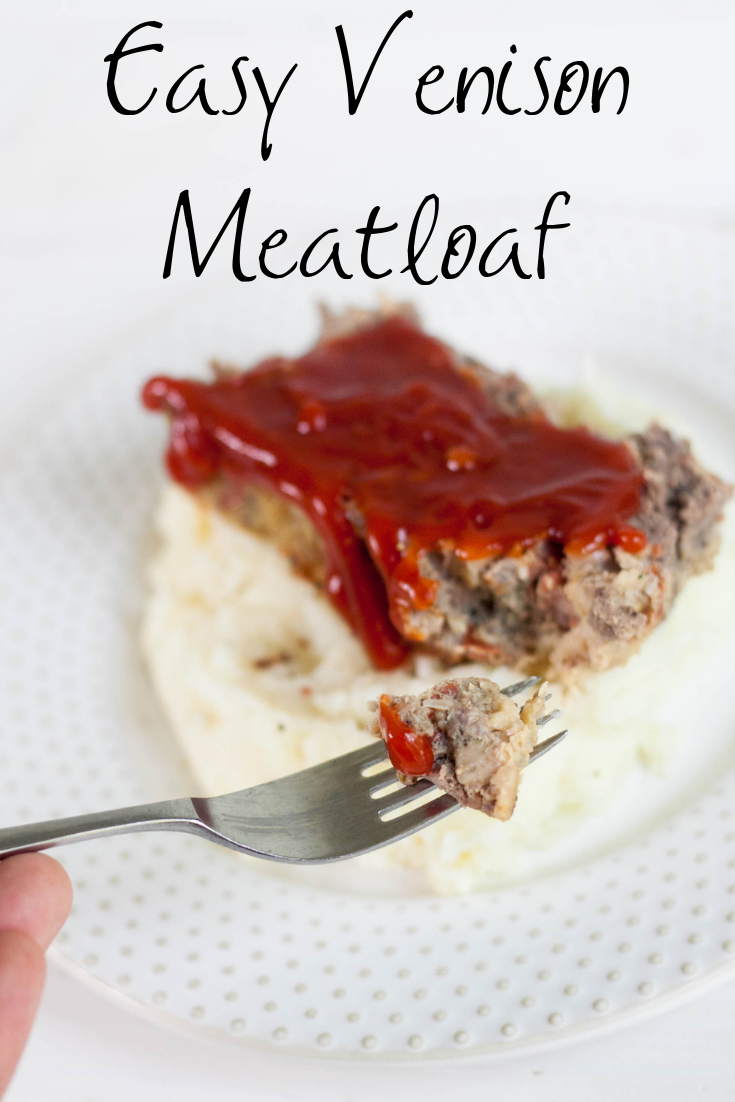 venison meatloaf on a plate