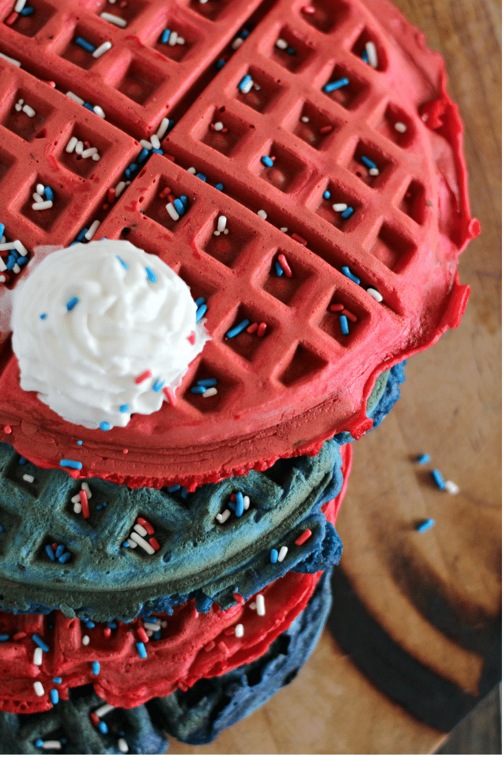 red white blue waffles