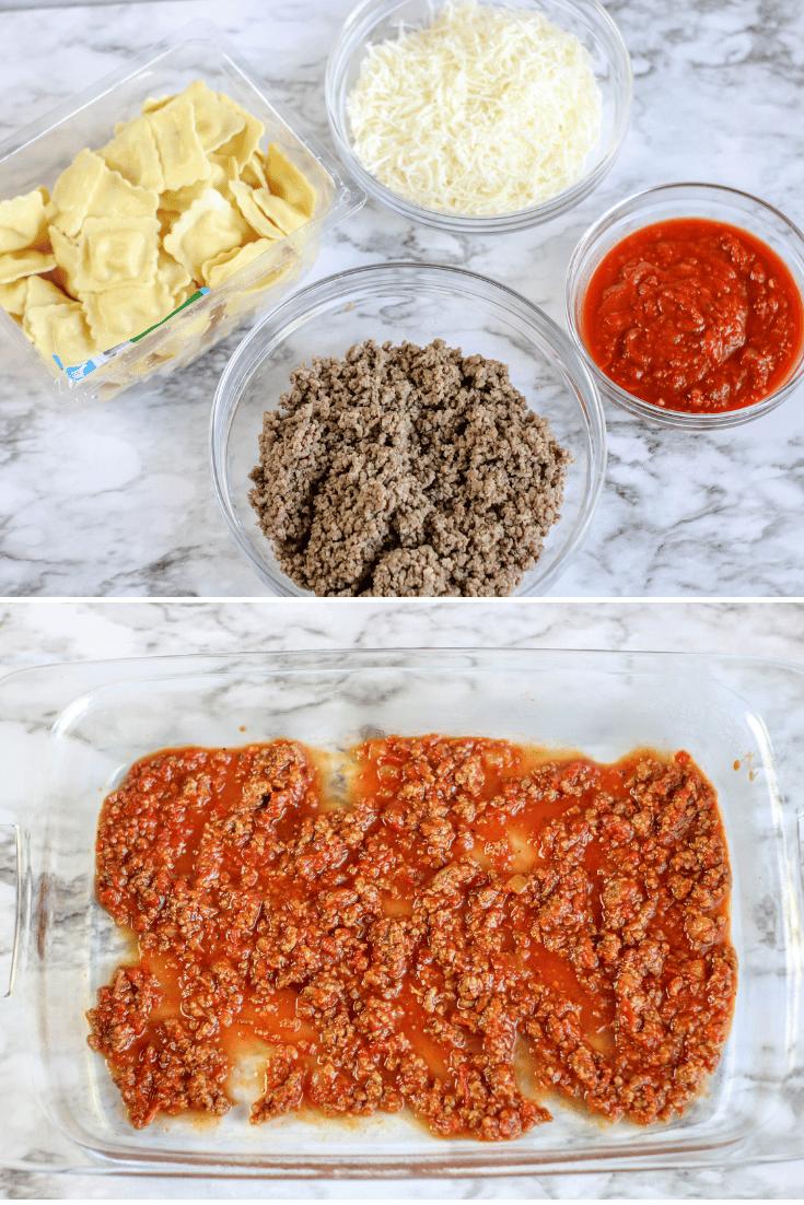 ingredients for ravioli casserole