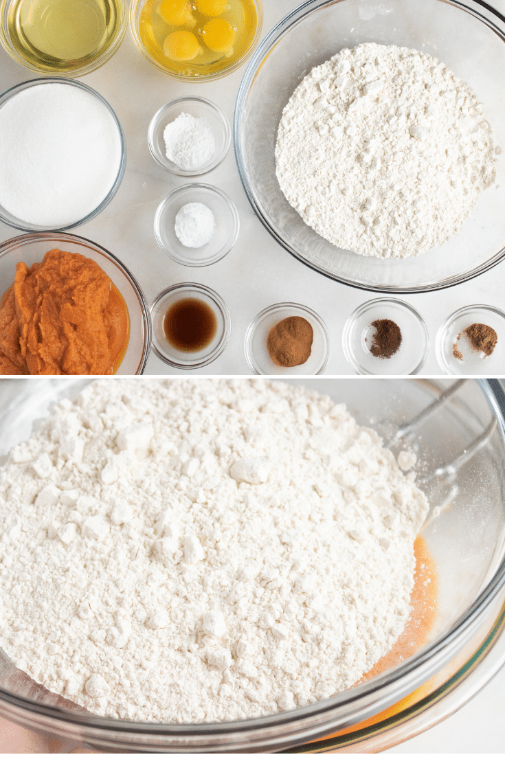 ingredients for pumpkin cake