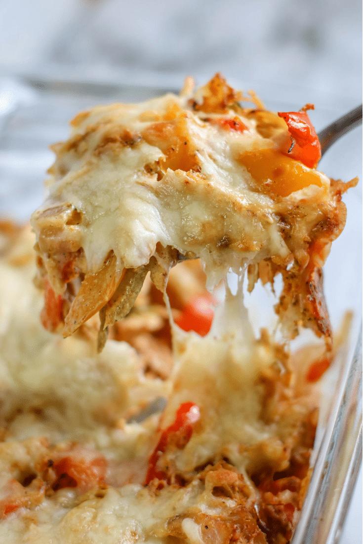 baked chicken fajita casserole
