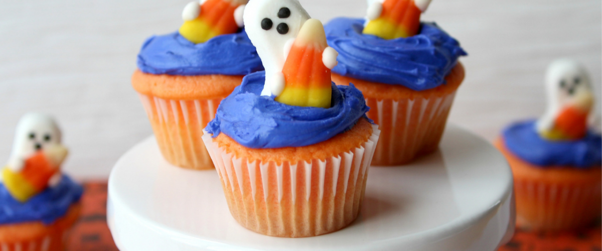 Sweet as Candy Ghost Cupcakes