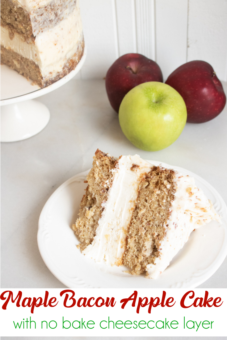 maple apple bacon cake