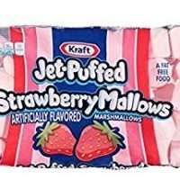 Kraft, Jet-Puffed, Strawberry Marshmallows, 8 oz Bag