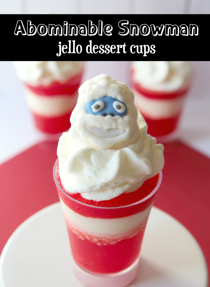 snowman jello dessert cups