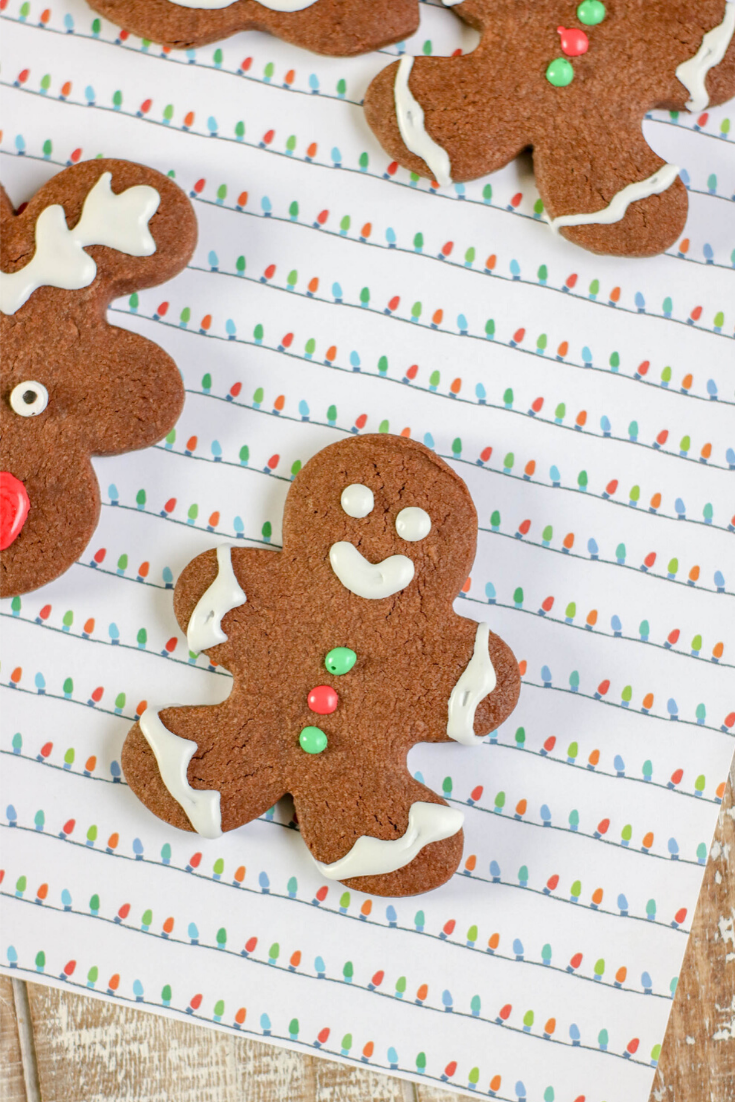 chocolate sugar gingerbreadman cookies