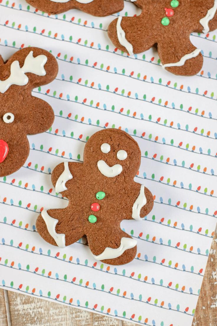 chocolate sugar gingerbreadman cookies