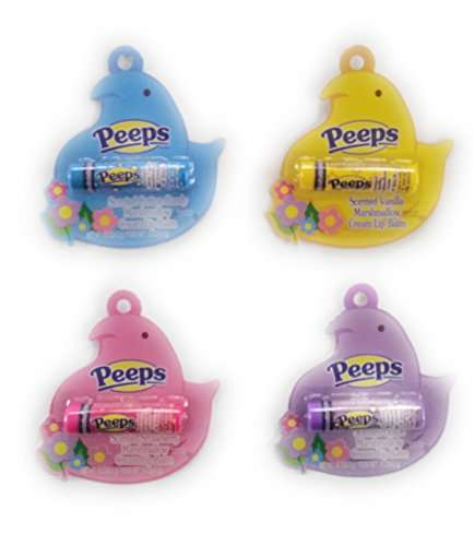 Peeps Lip Balm Set of 4 Scented Marshmallow Cream Flavors