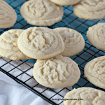 amish sugar cookies on wire cooling rack