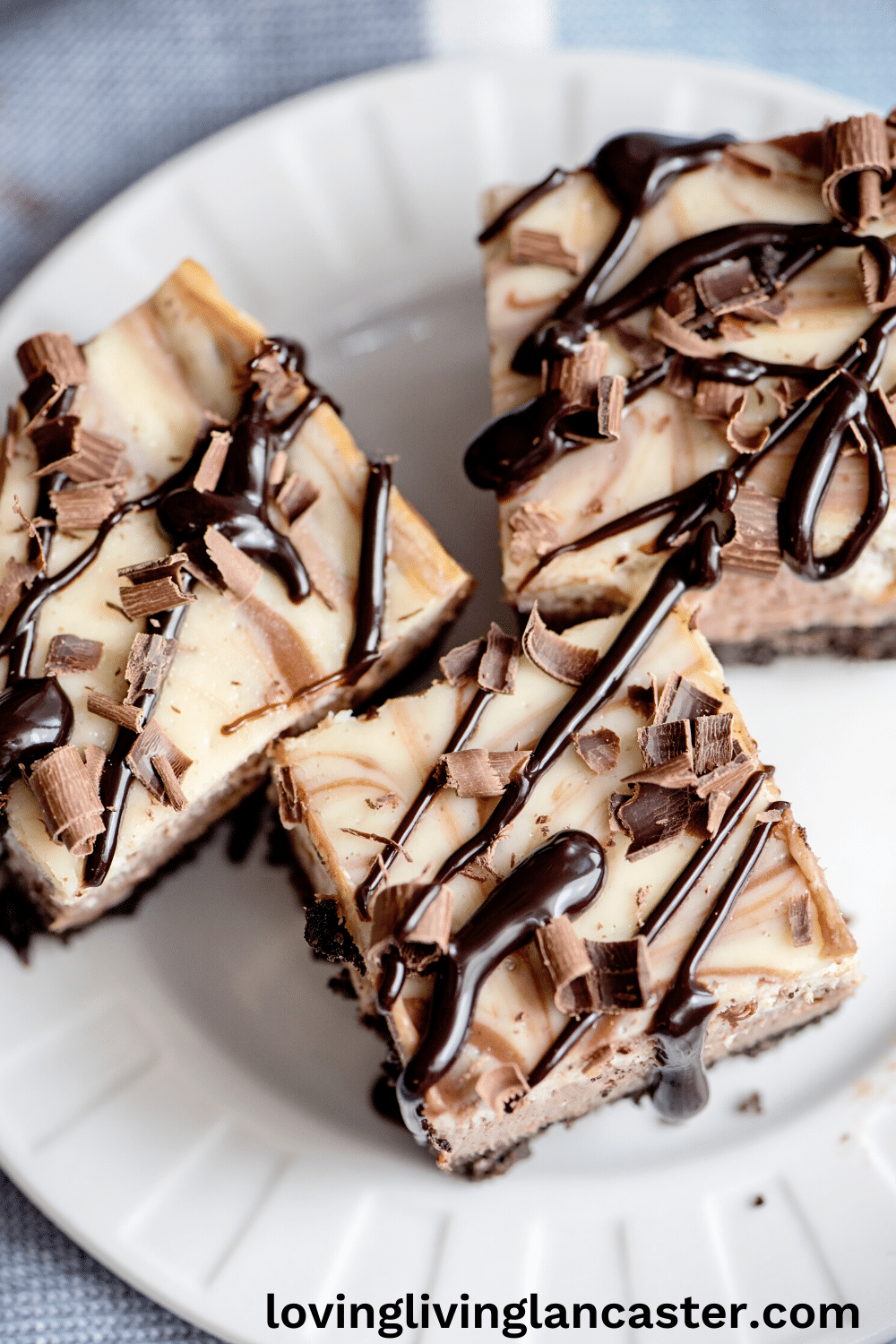 chocolate cheesecake bars