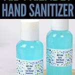 hand sanitizer in bottles