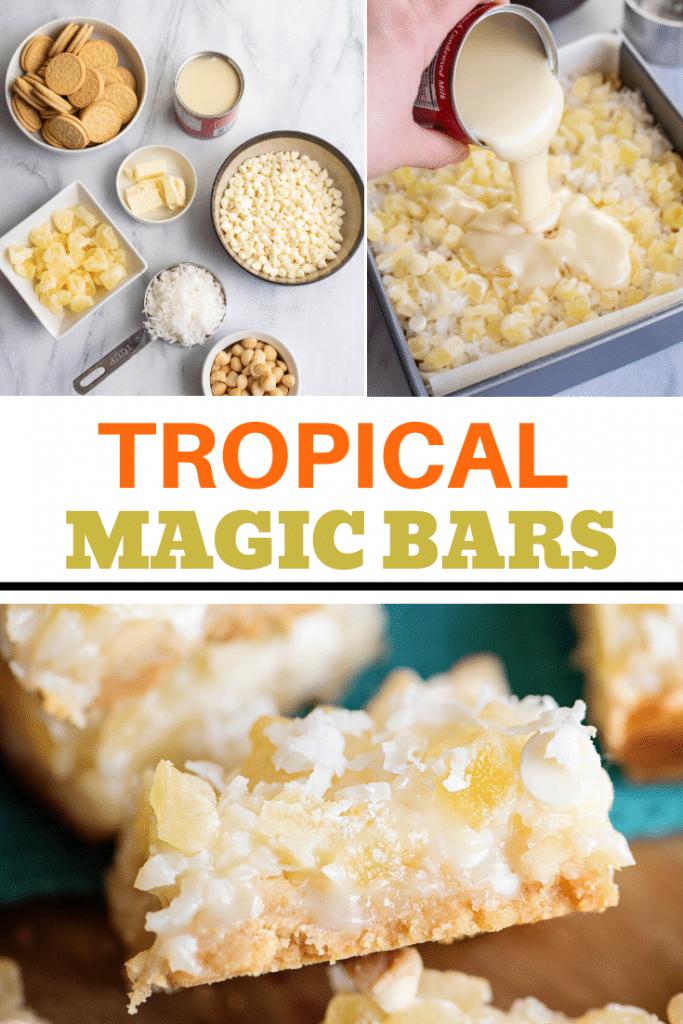 making tropical magic bars