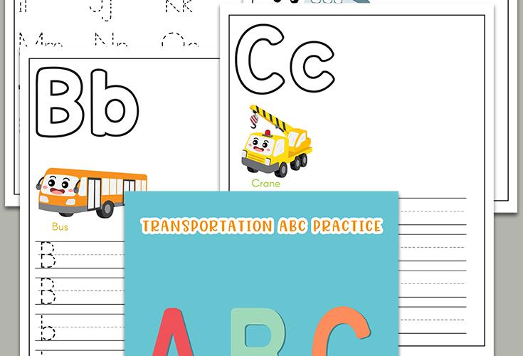Transportation ABC Printables