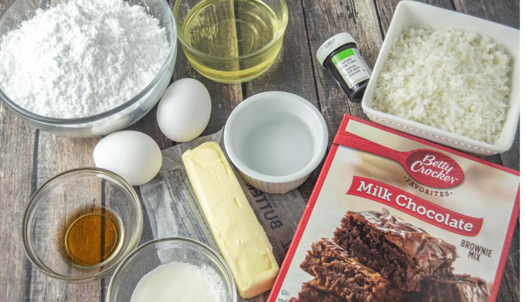 ingredients for homemade brownies