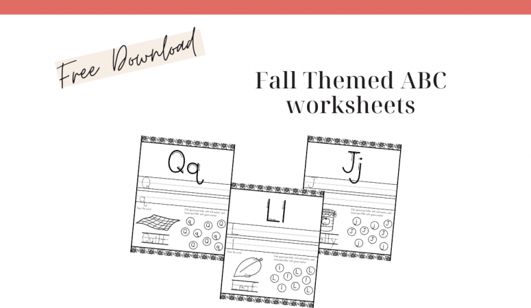 Fall Themed Alphabet Worksheets