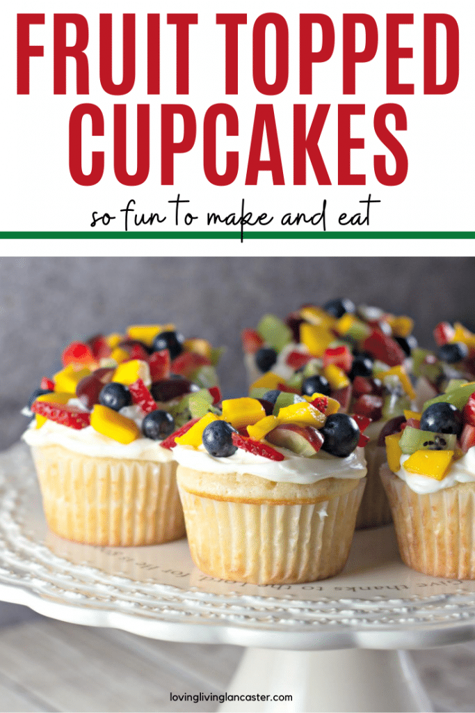 fruit topped cupcakes