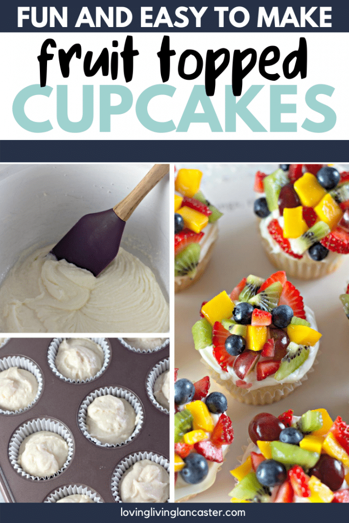 making fruit topped cupcakes
