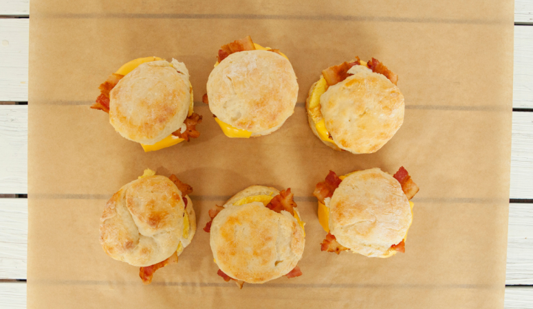 Weight Watchers Bacon Egg and Cheese Biscuits